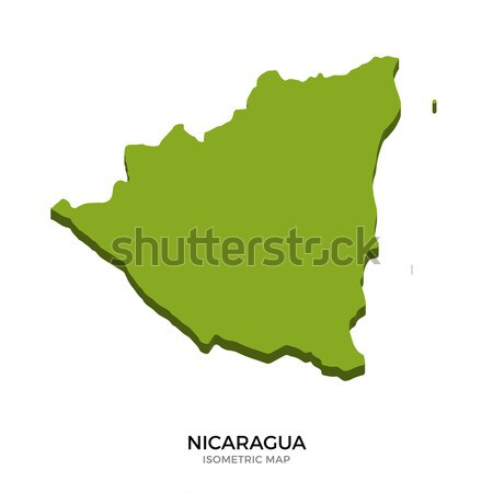 Isometric map of Nicaragua detailed vector illustration Stock photo © tkacchuk