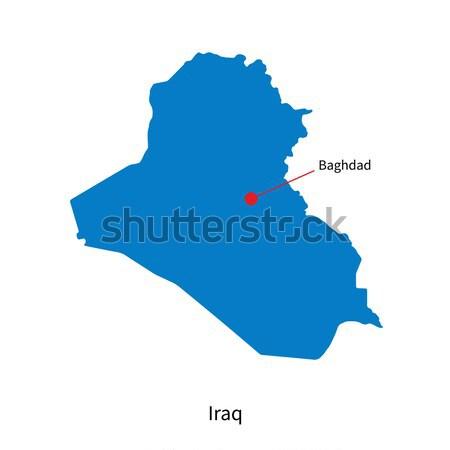 Ayrıntılı vektör harita Irak şehir Bağdat Stok fotoğraf © tkacchuk