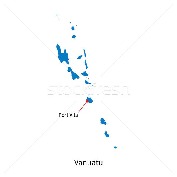 подробный вектора карта Вануату город порта Сток-фото © tkacchuk