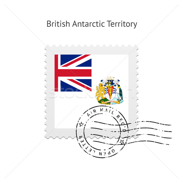 British Antarctic Territory Flag Postage Stamp. Stock photo © tkacchuk