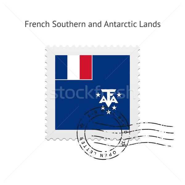французский южный флаг почтовая марка белый знак Сток-фото © tkacchuk