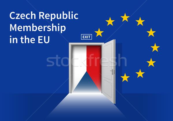 европейский Союза флаг стены чешский республика Сток-фото © tkacchuk