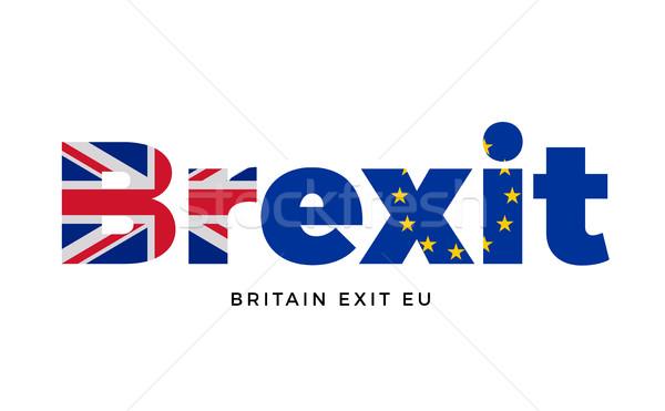выход европейский Союза референдум вектора Сток-фото © tkacchuk