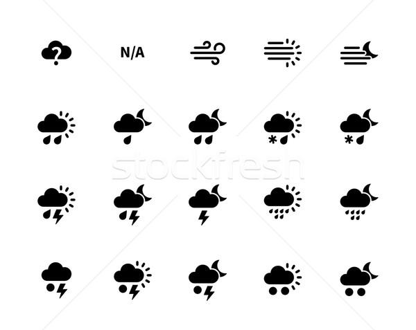 Weather icons on white background. Stock photo © tkacchuk