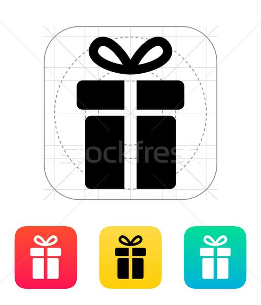 Stock photo: Gift box icons on white background.