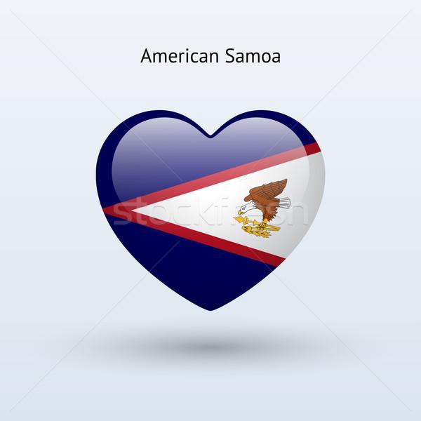 Amor Samoa Americana símbolo coração bandeira ícone Foto stock © tkacchuk