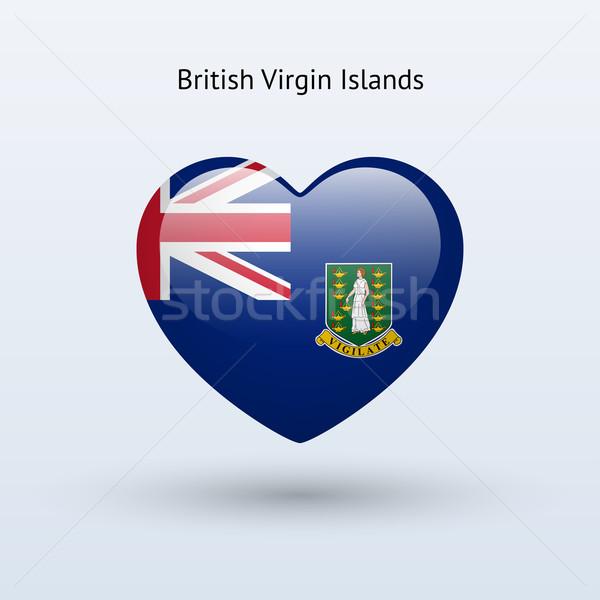 Сток-фото: любви · британский · Виргинские · о-ва · символ · сердце · флаг