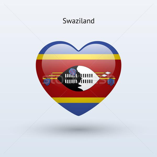 Amour Swaziland symbole coeur pavillon icône Photo stock © tkacchuk
