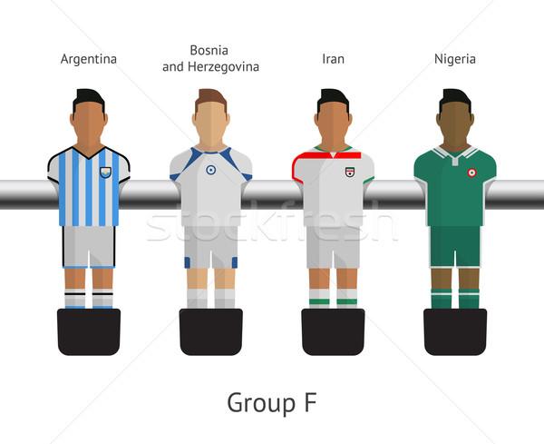 Tabelle Fußball Fußball Spieler Gruppe Argentinien Stock foto © tkacchuk