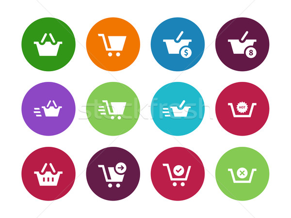 Stockfoto: Kassa · cirkel · iconen · witte · business · ontwerp