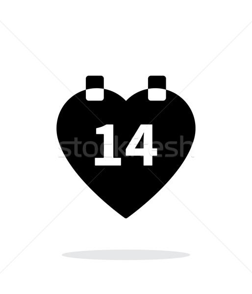 Valentine's Day icon on white background. Stock photo © tkacchuk