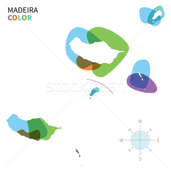 Soyut vektör renk harita madeira şeffaf Stok fotoğraf © tkacchuk