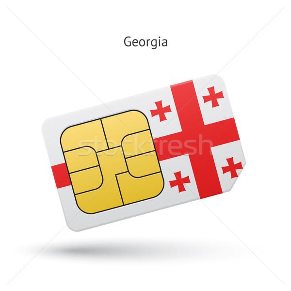 Georgia mobile phone sim card with flag. Stock photo © tkacchuk