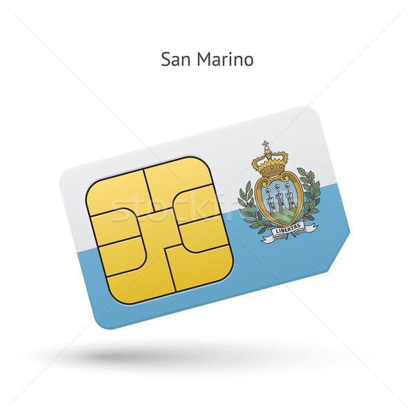 Сан-Марино мобильного телефона карт флаг бизнеса дизайна Сток-фото © tkacchuk