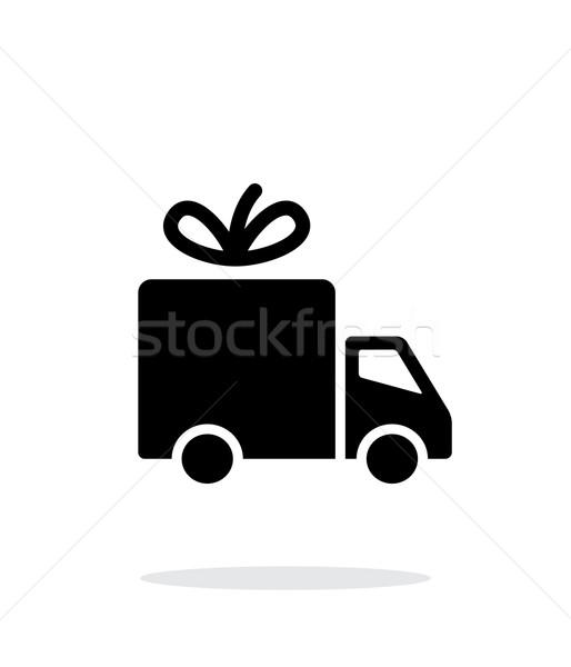 Delivery icon on white background. Stock photo © tkacchuk
