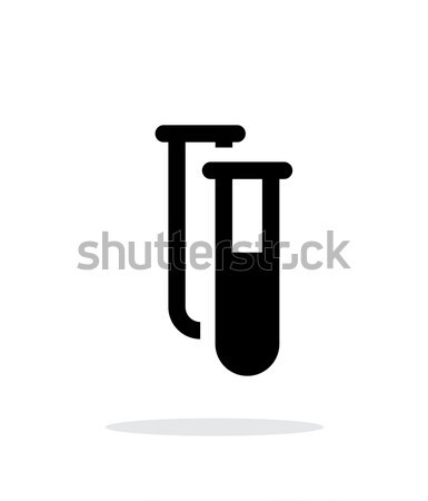 Test tube with substance simple icon on white background. Stock photo © tkacchuk