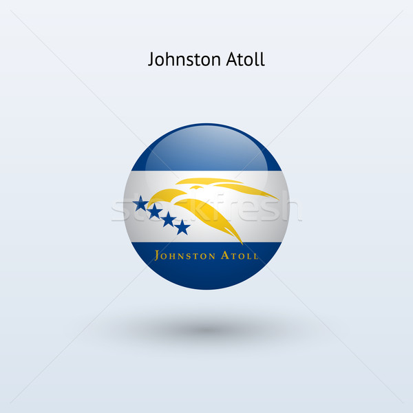 Johnston Atoll round flag. Vector illustration. Stock photo © tkacchuk