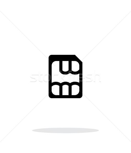 Nano SIM simple icon on white background. Stock photo © tkacchuk