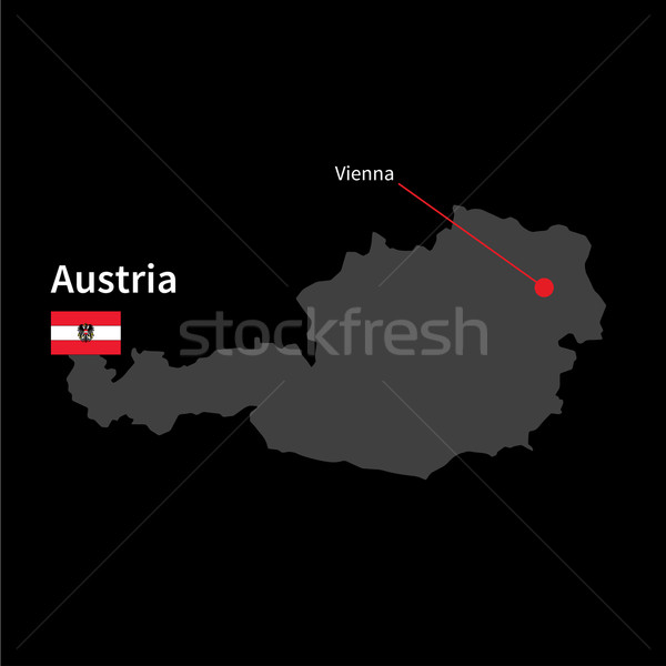 Detalhado mapa Áustria cidade Viena bandeira Foto stock © tkacchuk