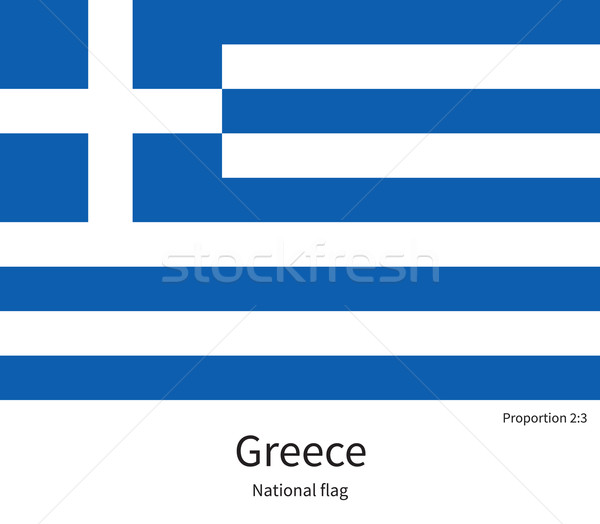 National flag of Greece with correct proportions, element, colors Stock photo © tkacchuk
