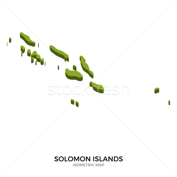 Isometric map of Solomon Islands detailed vector illustration Stock photo © tkacchuk