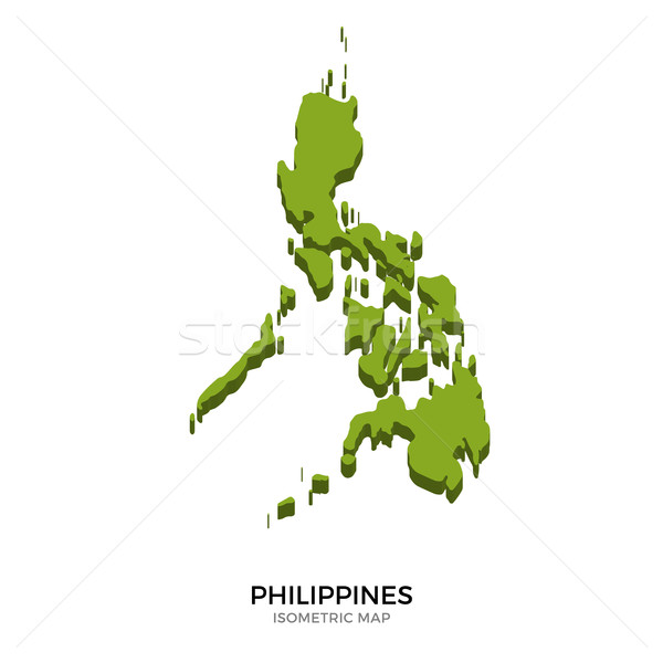 Isometric map of Philippines detailed vector illustration Stock photo © tkacchuk