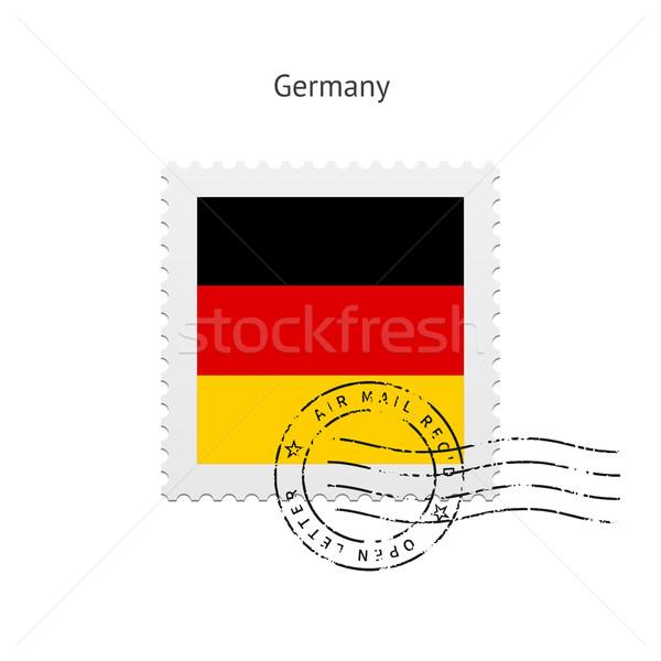 Németország zászló postabélyeg fehér felirat levél Stock fotó © tkacchuk