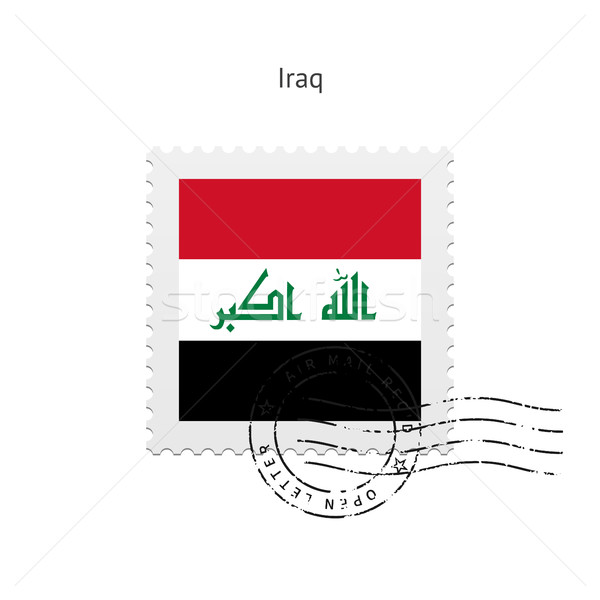 Iraq Flag Postage Stamp. Stock photo © tkacchuk
