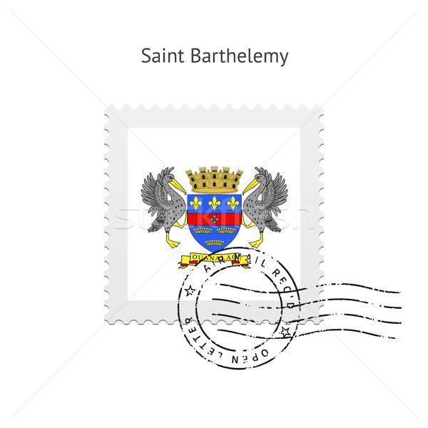 Saint Barthelemy Flag Postage Stamp. Stock photo © tkacchuk