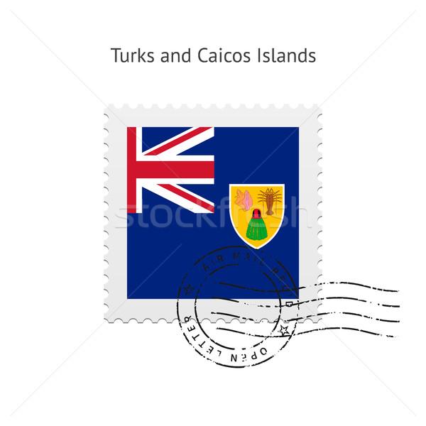 флаг почтовая марка белый знак письме Сток-фото © tkacchuk