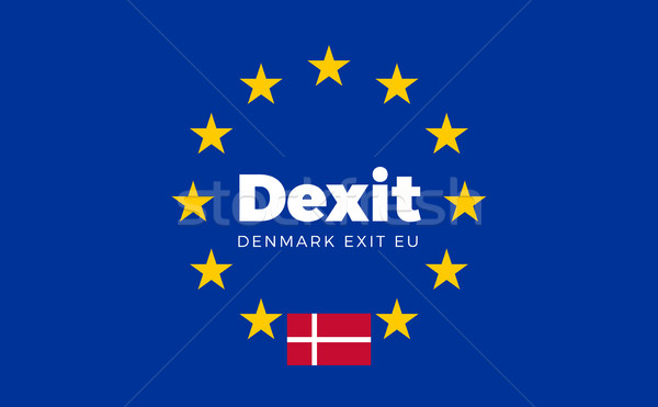 Flag of Denmark on European Union. Dexit - Denmark Exit EU Europ Stock photo © tkacchuk
