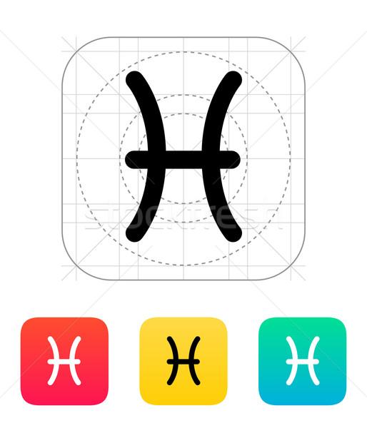 Pisces zodiac icon. Stock photo © tkacchuk