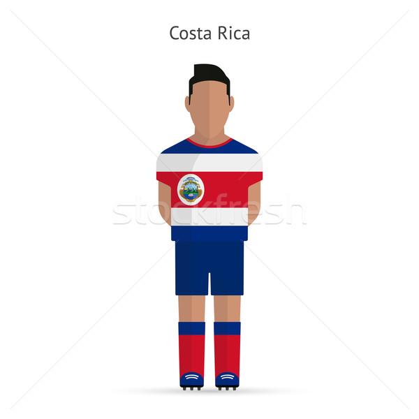 Costa Rica futballista futball egyenruha absztrakt fitnessz Stock fotó © tkacchuk