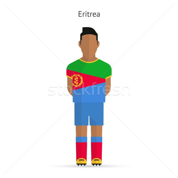 Эритрея футболист Футбол равномерный аннотация фитнес Сток-фото © tkacchuk