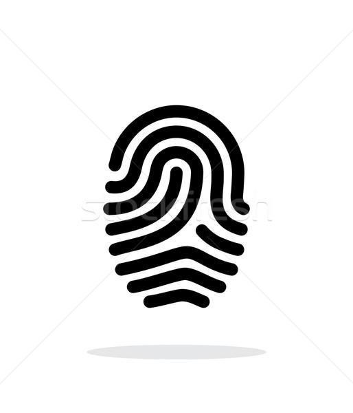 指紋 ループ タイプ アイコン 白 デザイン ストックフォト © tkacchuk