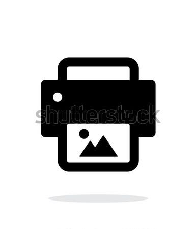 Photo print icon on white background. Stock photo © tkacchuk
