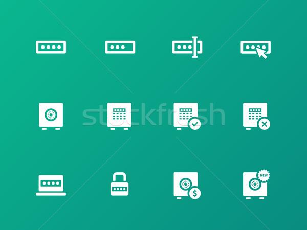 Parola simgeler yeşil bilgisayar dizayn pencere Stok fotoğraf © tkacchuk