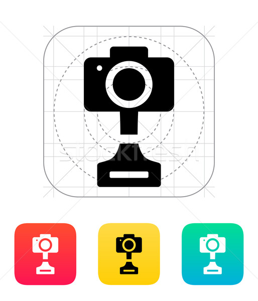 SLR photo award icon on white background. Stock photo © tkacchuk