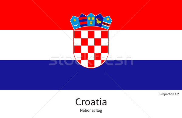 флаг Хорватия исправить элемент цветами образование Сток-фото © tkacchuk