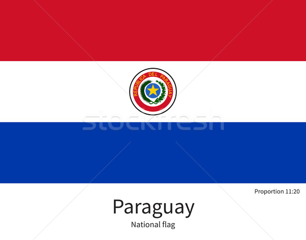 National flag of Paraguay with correct proportions, element, colors Stock photo © tkacchuk