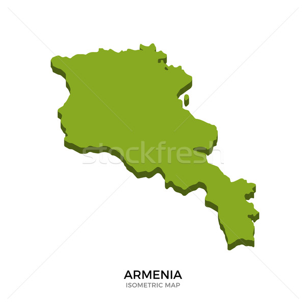 Isometric map of Armenia detailed vector illustration Stock photo © tkacchuk