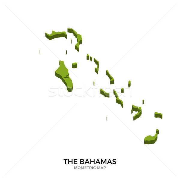 Isometric map of Bahamas detailed vector illustration Stock photo © tkacchuk