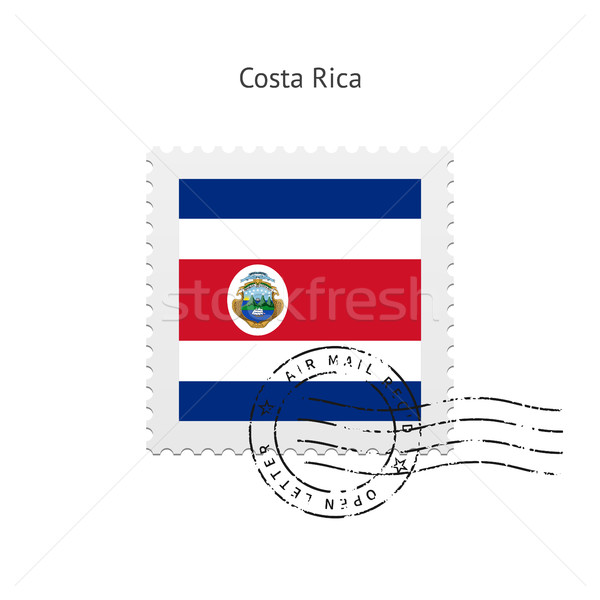 Costa Rica Flag Postage Stamp. Stock photo © tkacchuk