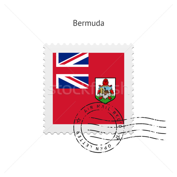 Bermuda Flag Postage Stamp. Stock photo © tkacchuk