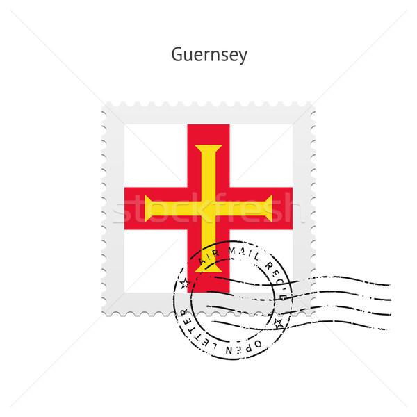Guernsey Flag Postage Stamp. Stock photo © tkacchuk