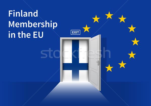 Európai szövetség zászló fal ajtó EU Stock fotó © tkacchuk