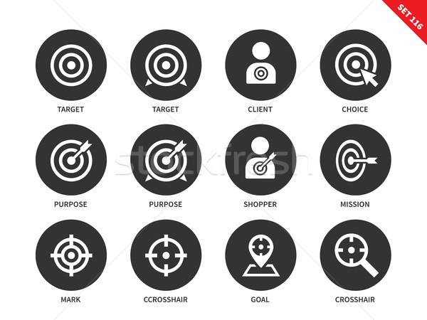 Target icons on white background Stock photo © tkacchuk