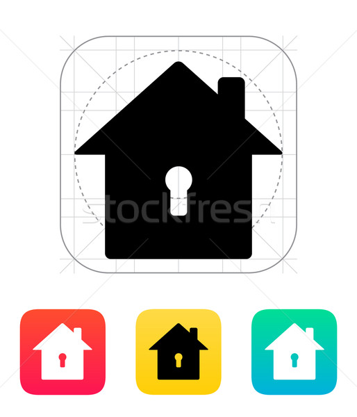 Abstract home with keyhole icon. Stock photo © tkacchuk