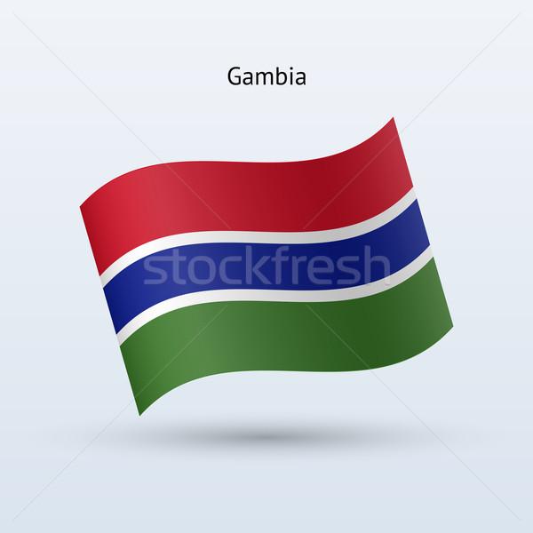 ガンビア フラグ フォーム グレー にログイン ストックフォト © tkacchuk