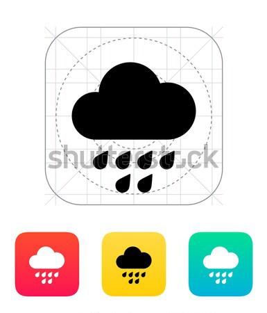 Ikona Internetu technologii komunikacji Chmura Zdjęcia stock © tkacchuk